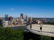 Pittsburgh from Grandivew Avenue platform