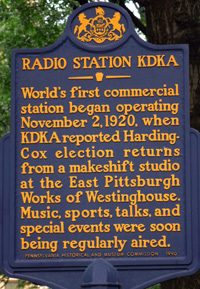 KDKA Radio Station Sign