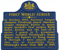 First World Series Sign