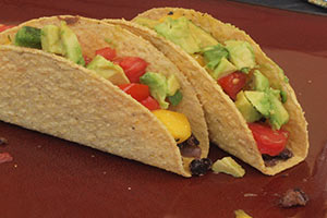 Mango, Avocado and Black Bean Tacos