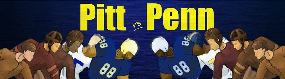 Pitt and Penn State Rivalry Banner
